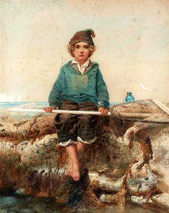 Alfred Downing Fripp - The little shrimper