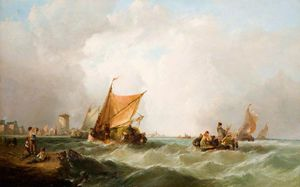 Order Museum Quality Copies | Coast of Holland by Alfred Montague (1832-1883, United Kingdom) | WahooArt.com