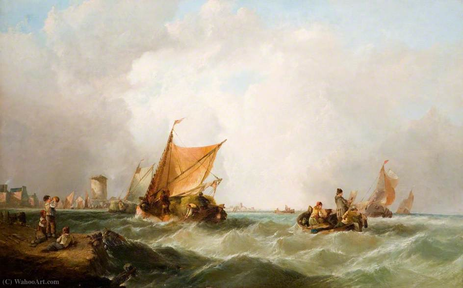 Coast of Holland by Alfred Montague (1832-1883, United Kingdom) | Painting Copy | WahooArt.com