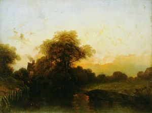 Order Art Reproductions | Evening by Alfred Montague (1832-1883, United Kingdom) | WahooArt.com