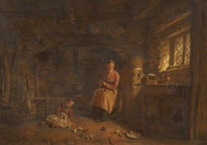 Alfred Provis - Cottage interior