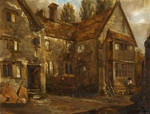 Alfred Provis - North Front of Easton Piercy Manor House, Wiltshire