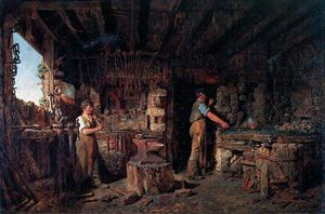 Alfred Provis - The blacksmith's forge