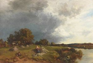 Alfred Walter Williams - Haymaking, Sunshine and Showers