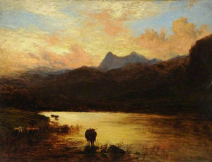 Alfred Walter Williams - Landscape, langdale pikes, cumbria