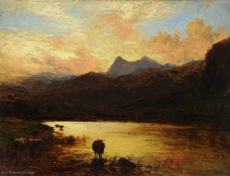 Landscape, langdale pikes, cumbria by Alfred Walter Williams (1824-1905, United Kingdom)