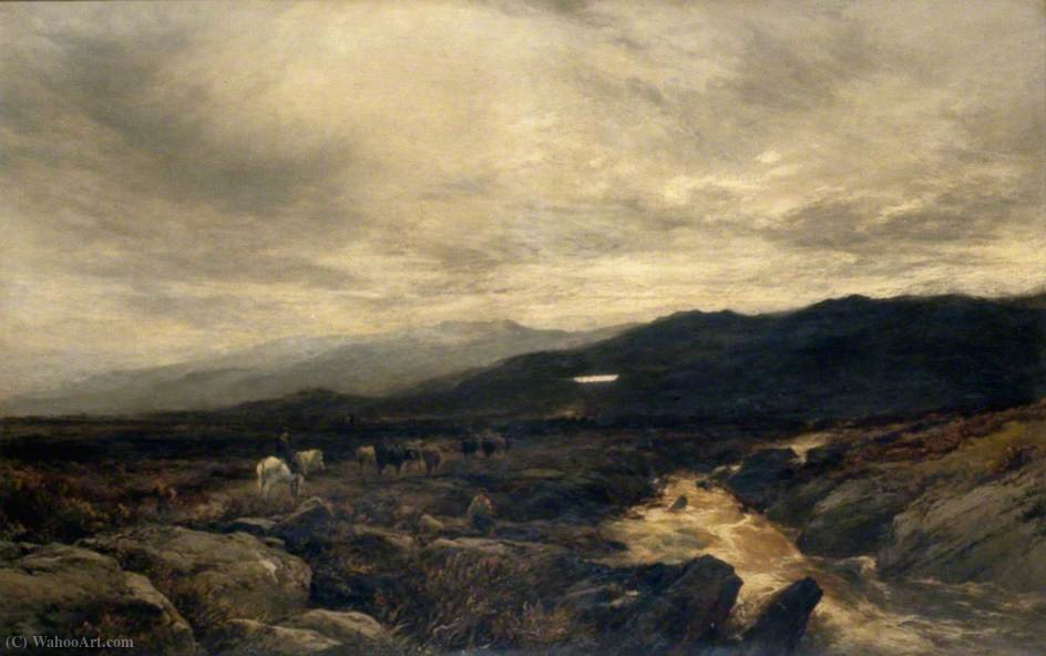 On the Cumberland Fells by Alfred Walter Williams (1824-1905, United Kingdom) | Painting Copy | WahooArt.com