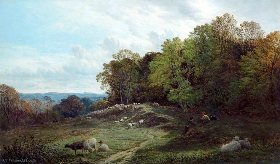 Pasture near Swansea by Alfred Walter Williams (1824-1905, United Kingdom) | WahooArt.com