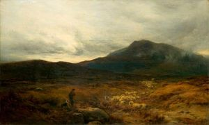 Alfred Walter Williams - Welsh Moor with Sheep