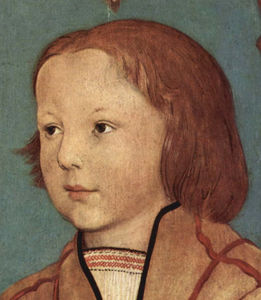 Ambrosius Holbein - Portrait of a Young Boy with Blond Hair (detail)