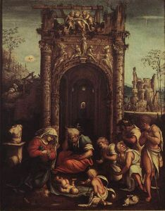 Amico Aspertini - The Adoration of the Shepherds