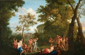 Andrea Locatelli - Bacchanal with the Drunken Silenus on an Ass