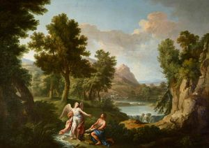 Andrea Locatelli - Landscape with Tobias and the Angel