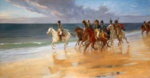 Andrew Carrick Gow - Napoleon on the Sands at Boulogne, France