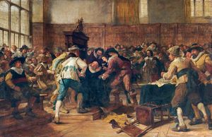 Andrew Carrick Gow - The Tumult in the House of Commons, 2nd March (1629)
