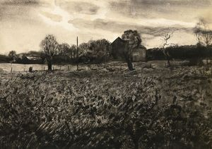 Andrew Wyeth - Pennsylvania landscape (from the studio)