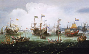 Andries Van Eertvelt - The Return to Amsterdam of the Second Expedition to the East Indies