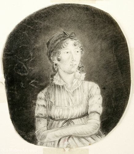 Self portrait by Anne Marguerite Hyde De Neuville (1771-1849, France)