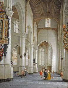 Anthonie De Lorme - The Interior of the Church of St. Laurens in Rotterdam