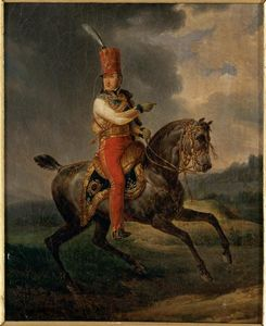 Antoine Charles Horace Vernet Aka Carle Vernet - Louis-Philippe I, Duke of Orleans then in the uniform of Colonel-General of Hussars (1773 - (1850).)
