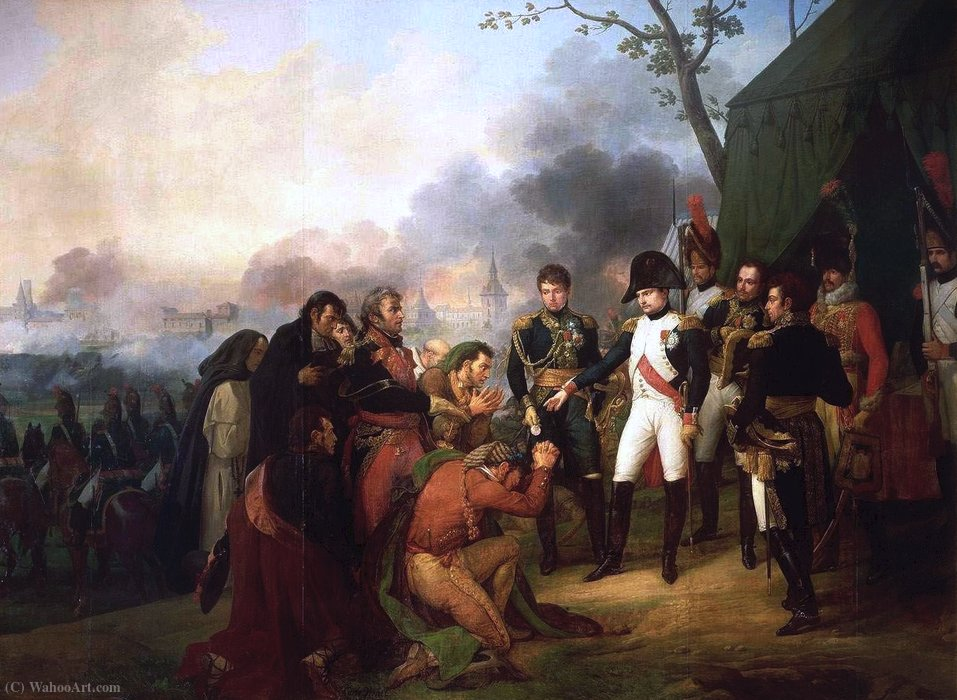 Napoleon at the gates of Madrid in (1810) by Antoine Charles Horace Vernet Aka Carle Vernet (1758-1836, France) | Museum Quality Copies Antoine Charles Horace Vernet Aka Carle Vernet | WahooArt.com