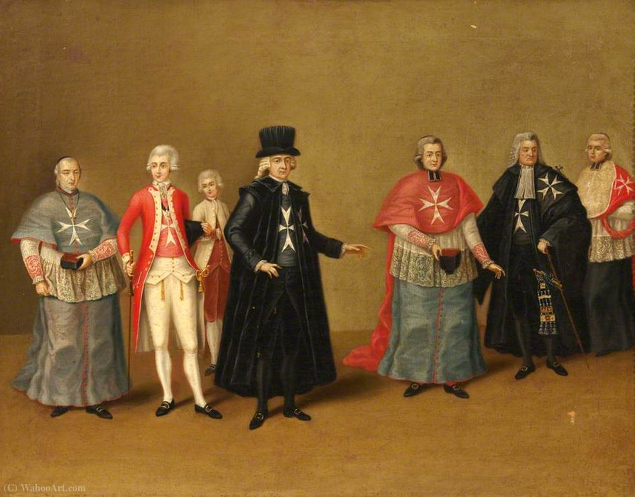 Officers of the Knights of Malta by Antoine De Favray (1706-1798, France)
