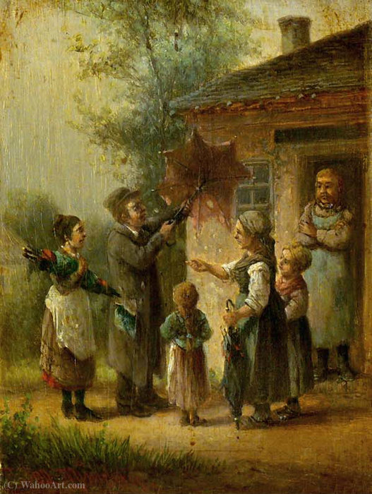 Screen seller by Anton Doll (1826-1887, Germany) | Museum Quality Reproductions | WahooArt.com