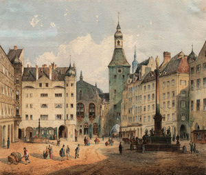 Anton Doll - The Marienplatz in Munich