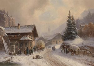 Anton Doll - Village road in winter