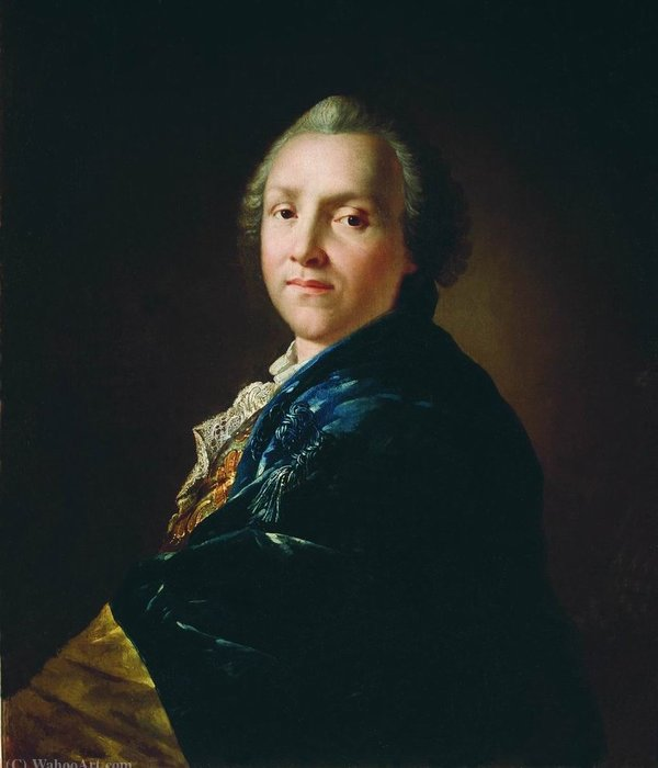 Portrait of the poet and playwright Alexander Petrovich Sumarokov by Anton Pavlovich Losenko (1737-1773, Russia)