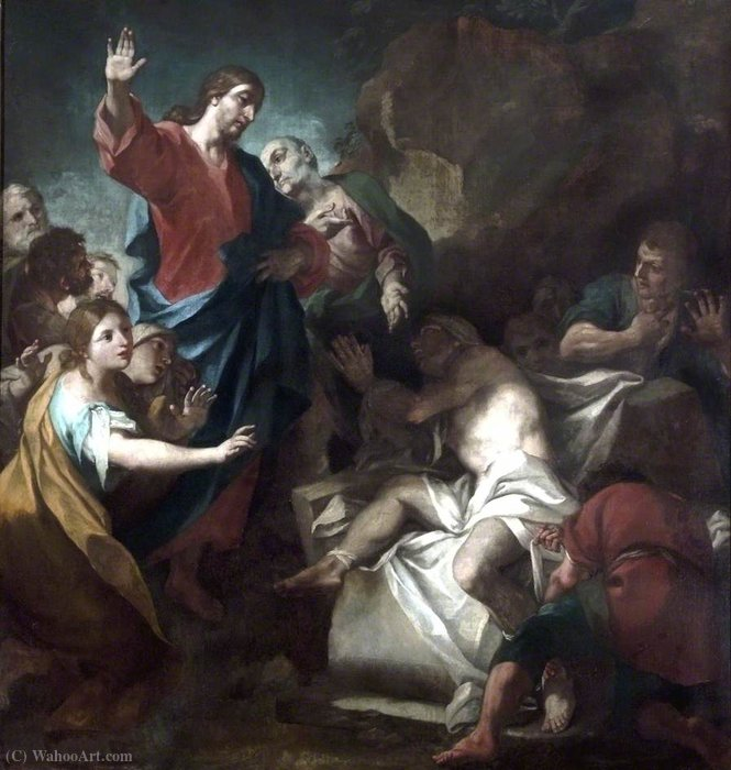 Order Reproductions | The Raising of Lazarus by Antonio Balestra (1666-1740, Italy) | WahooArt.com
