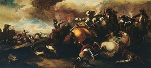 Antonio Maria Marini - Battle scene cavalry skirmish