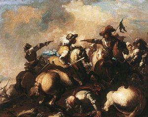 The Battle of Cascina, Oil by Bastiano Da Sangallo (1481 ...