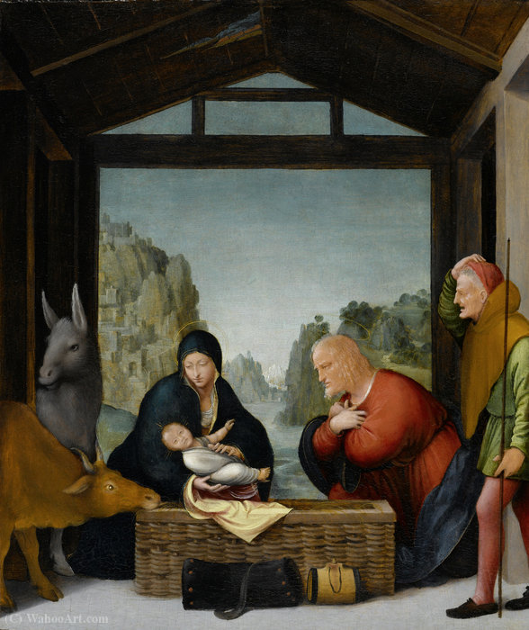 The Adoration of the Shepherds by Arcangelo Di Jacopo Del Sellaio (1442-1493, Italy) | Oil Painting | WahooArt.com