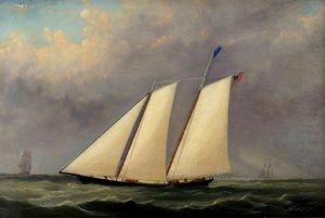 Arthur Wellington Fowles - The Yacht -America-