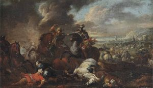 August Querfurt - A battle between knights and Ottomans