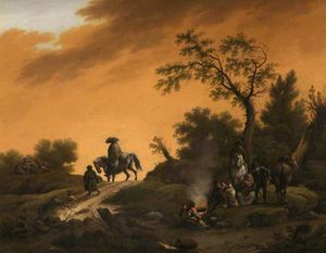Barend Gael Or Gaal - Dutch landscape