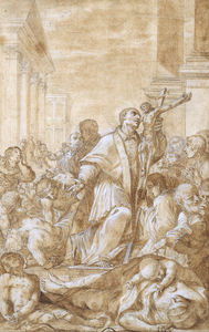 Benedetto Luti - Saint Carlo Borromeo among the Plague Sufferers