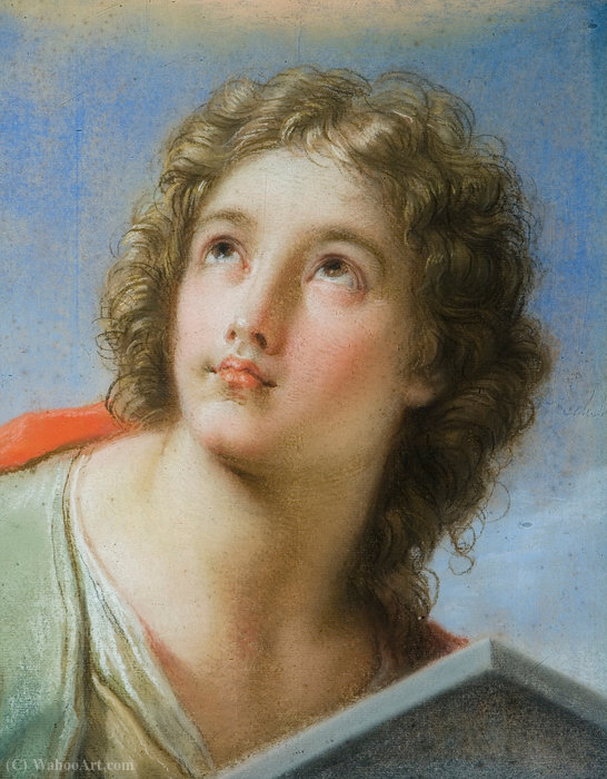 Order Museum Quality Reproductions : Saint John the Evangelist by Benedetto Luti (1666-1724, Italy) | WahooArt.com