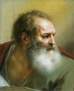 Benedetto Luti - The Head of an Apostle