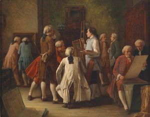 Benjamin Eugene Fichel - Art lovers in the studio