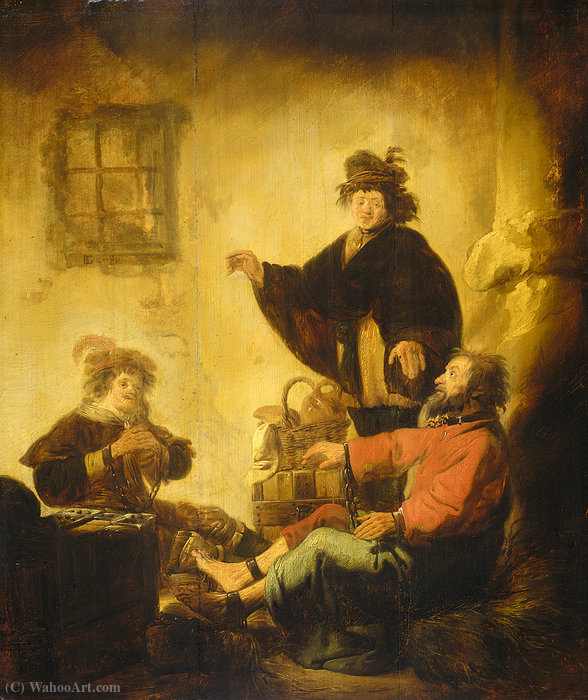 Joseph interpreting the dreams of the baker and the butler by Benjamin Gerritsz Cuyp (1612-1652, Netherlands) | Painting Copy | WahooArt.com