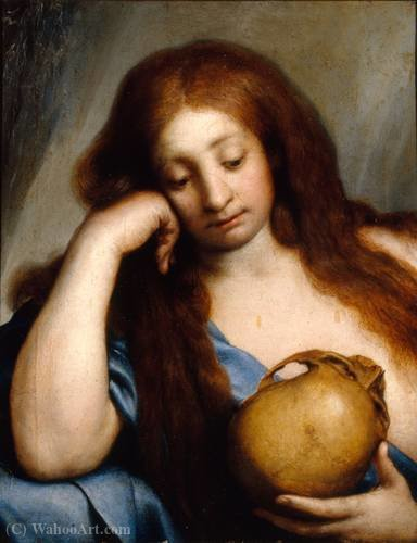 Buy Museum Art Reproductions | Mary magdalen repenting by Carlo Francesco Nuvolone (1609-1662, Italy) | WahooArt.com