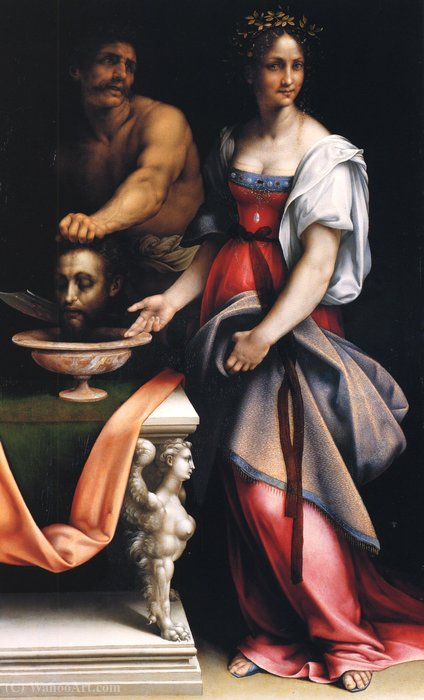 Salomè with head of John the Baptist by Cesare Da Sesto (1477-1523, Italy) | Museum Quality Reproductions | WahooArt.com