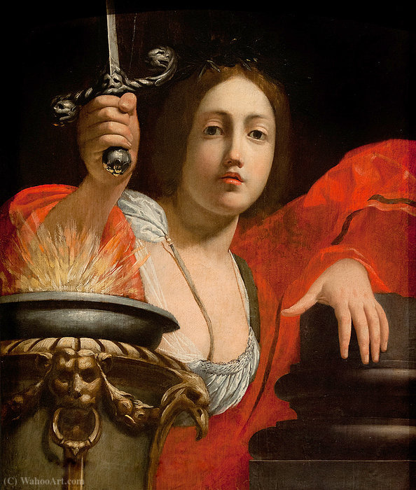 Allegory of Constance by Cesare Dandini (1596-1657, Italy) | Oil Painting | WahooArt.com