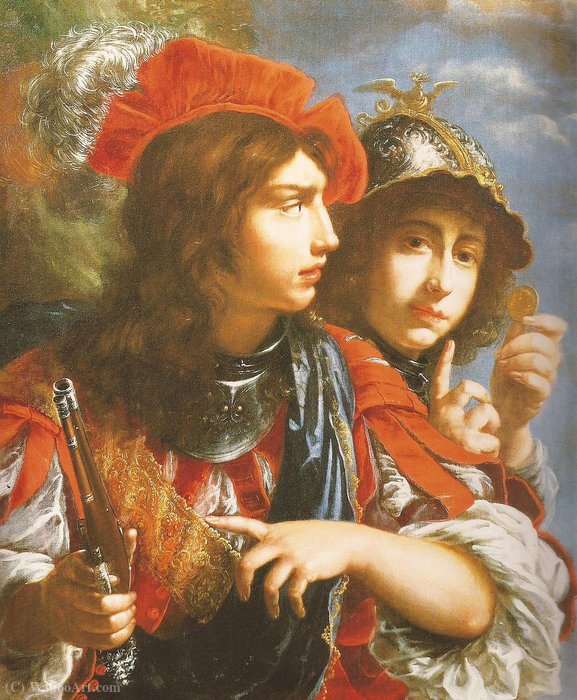 two Brave by Cesare Dandini (1596-1657, Italy) | Oil Painting | WahooArt.com
