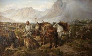 Charles Jones - Bringing Home the Deer