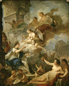 Charles Joseph Natoire - Allegory on Birth of Marie-Zéphyrine of France in (1750)
