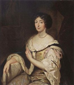 Constantin Netscher - Portrait of Marie Mancini, niece of Mazarin and first love of Louis XIV of France