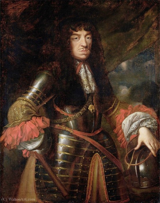 Portrait of King John II Casimir Vasa by Daniel Ii Schultz (1615-1683, Poland) | Art Reproductions Daniel Ii Schultz | WahooArt.com